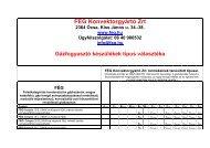 A FÉG Konvektorgyártó Zrt termékeinek típusai _2_ _3_