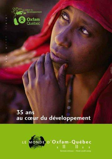 Monde d'Oxfam-Québec, spécial 35e