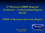 FIDIC in Romania and the Region - Dispute Resolution Board ...