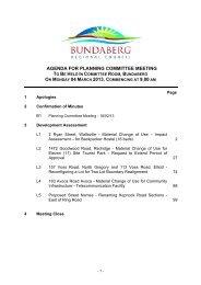 agenda for planning committee meeting - Bundaberg Regional ...