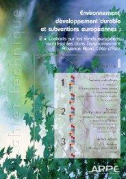 Contacts - Agence régionale pour l'environnement (ARPE)