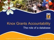 Key Features of Knox CDF Grants Database - Our Community