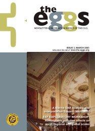 ESF EXPLORATORY WORKSHOP - European Geosciences Union