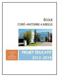 Projet éducatif 2012-2016 - Commission scolaire de Laval