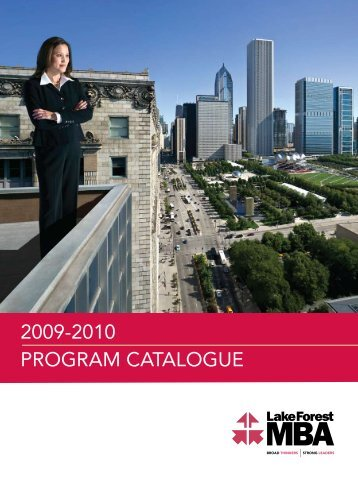 2009-2010 - Lake Forest Graduate School of Management