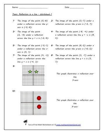 math worksheet : math worksheet land probability  worksheets : Reflection Math Worksheets