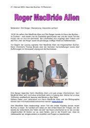 21. Februar 2003, Haus des Buches, 10 Personen ... - FKSFL