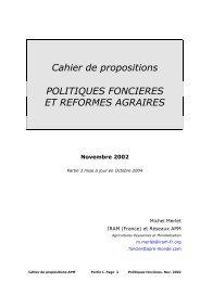 Cahier de propositions Politiques foncières et réformes ... - aGter