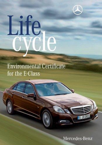 Environmental Certificate Mercedes-Benz E-Class - Daimler