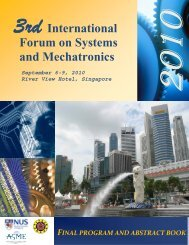International Forum on Systems and Mechatronics