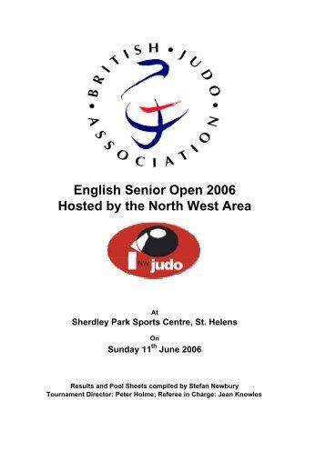English Senior Open 2006 Results - British Judo Association