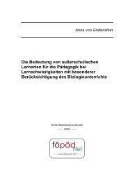 Die Bedeutung von außerschulischen Lernorten für ... - bei föpäd.net