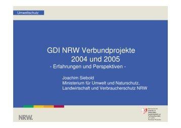 GDI NRW Verbundprojekte 2004 und 2005 - Sta-uis.de