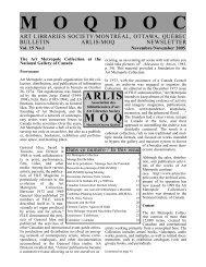 Vol. 15, no. 1 - arlis/na moq