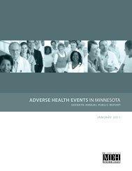 Adverse Health Events in Minnesota - Minnesota Department of Health
