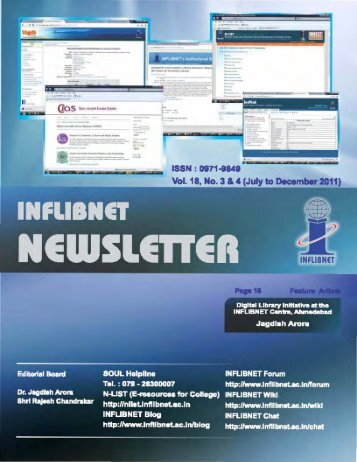 Vol.18- No.3 & 4 (Jul-Dec, 2011) - INFLIBNET Centre