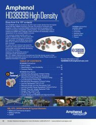 HD38999 High Density Connectors - Amphenol Aerospace