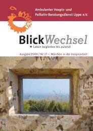 und Palliativ-Beratungsdienst Lippe eV BlickWechsel
