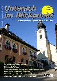 Ausgabe Juni 2006 - (ÖVP) Unterach am Attersee