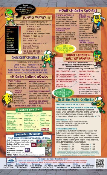ralphie's menu 2/2012 - Dine Here US