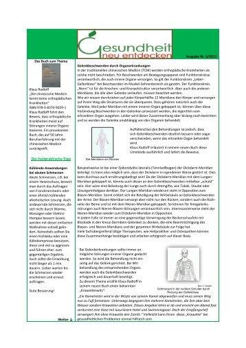 Ausgabe Nr. 6 Gelenkbeschwerden durch Organerkrankungen