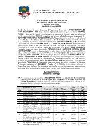 Relatório de Contratos 03/2009 - AMMOC
