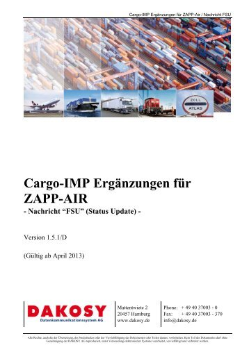 ZAPP-Air - FSU - DAKOSY Datenkommunikationssystem AG