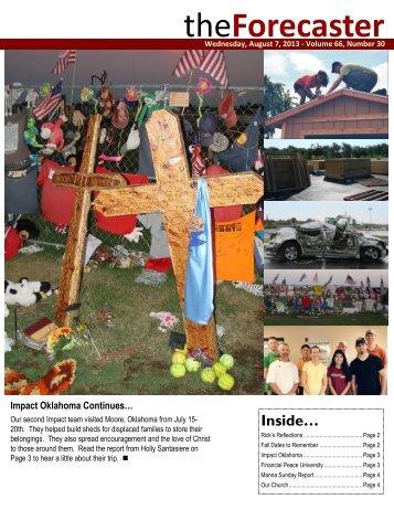 Aug 8: Cover Story - Impact Oklahoma - Fairmount Christian Church