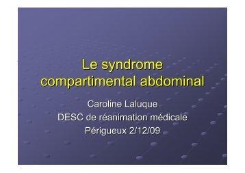 Syndrome du compartiment abdominal