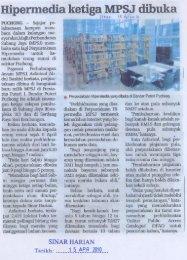 Hipermedia ketiga MPSJ dibul(a - Majlis Perbandaran Subang Jaya