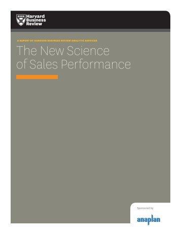 HBR sales analytics