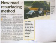 New road resurfacing method v - MPSJ