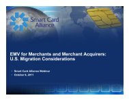 EMV For Merchants And Merchant Acquirers - Smart Card Alliance