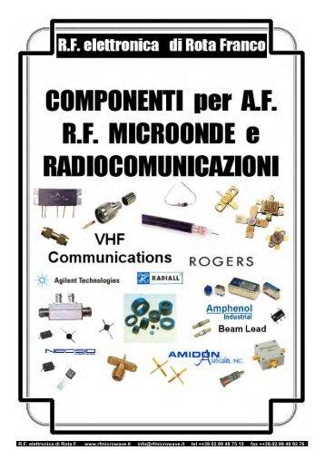 R.F. elettronica di Rota F. www.rfmicrowave.it info@rfmicrowave.it tel ...
