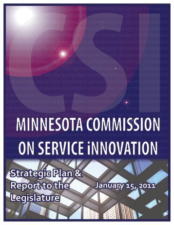 CSI Report 12-3-10 - Legislative Coordinating Commission