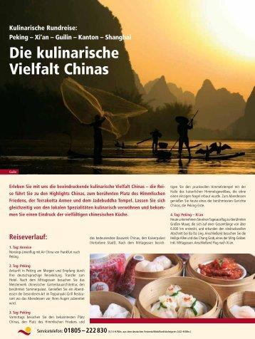 Die kulinarische Vielfalt Chinas