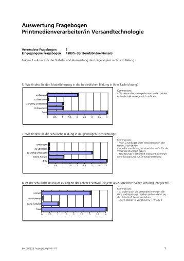 Auswertung Fragebogen Printmedienverarbeiter/in ... - Viscom