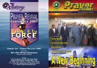The 10th Anniv Mag cover - RCCG Victory House London