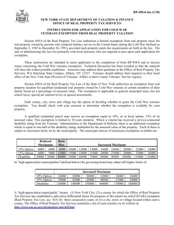 Form Rp 466 B The New York State Department Of Taxation And
