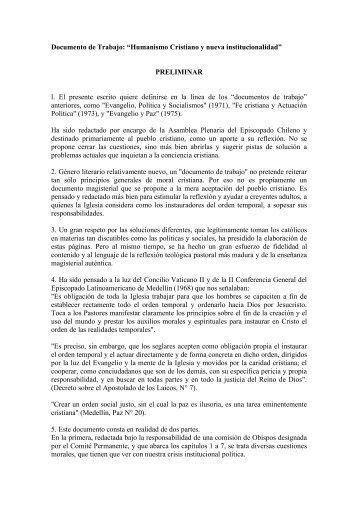 Documento de Trabajo - Conferencia Episcopal de Chile