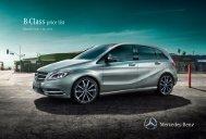 B-Class price list - Mercedes-Benz (UK)