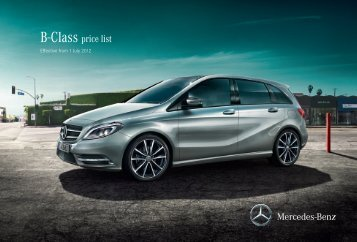 B-Class price list - Mercedes-Benz (UK)