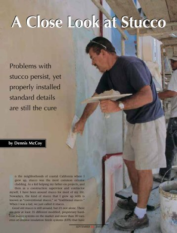 A Close Look at Stucco - Home Inspection Services