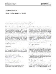Chaotic memristor