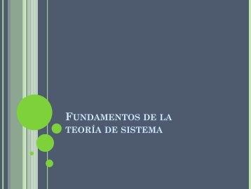 Fundamentos de la teoría de sistema - Departamento de Industria y ...