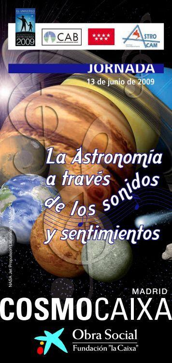 """PDF Jornada de Astronomía - Obra Social """"la Caixa"""""""