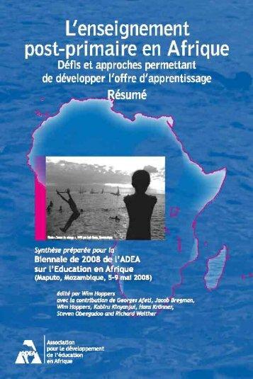 Enseignement postprimaire en Afrique - ADEA