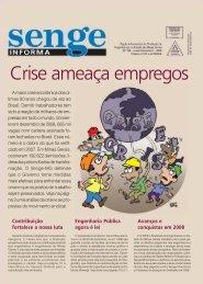 Crise ameaça empregos - Senge-MG