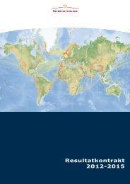 Resultatkontrakt 2012-2015 - Søfartsstyrelsen