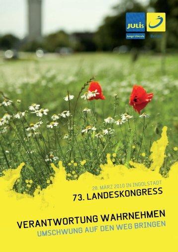 Antragsbuch der Jungen Liberalen Bayern zum 73 ... - JuLis Bayern